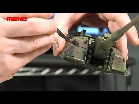 MENG TS-012 German Panzerhaubitze 2000 Self-Propelled Howitzer Build Guidance Video