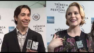 Justin Long amp Evan Rachel Wood get Pretentious at A Case of You39s Premiere
