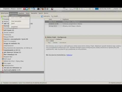 Czytnik RSS Liferea dla Linuxa