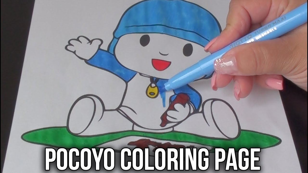 Pocoyo Coloring Book | Pocoyo Coloring Page For Kids - YouTube