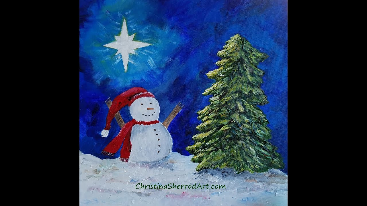 Simple Christmas Canvas Paintings