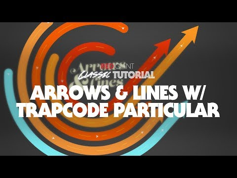 Classic Tutorial Arrows And Lines With Trapcode Particular Video