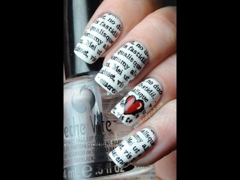 Newspaper Nailart (with Water Easily In Home)