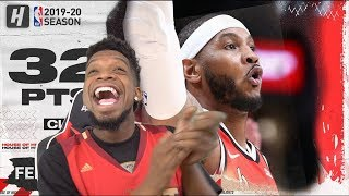 Heso Melo & CJ Combine for 73 PTS! Portland Trail Blazers vs Detroit Pistons Highlights