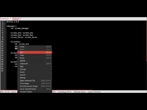 Kivy - How to set up Screens with ScreenManager