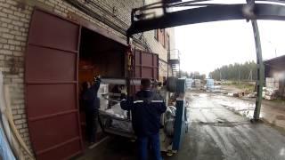 Перевозка станков краном-манипулятором HMF 4720(, 2012-09-27T02:03:17.000Z)