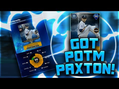 DISCOVERED 96 POTM JAMES PAXTON! SQUAD OVERVIEW! - MLB The Show 17 Diamond Dynasty