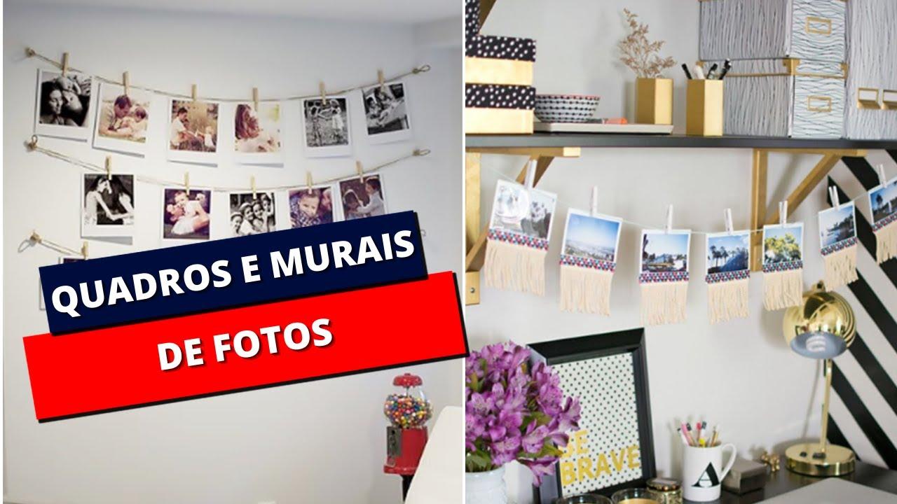 QUADROS E MURAIS DE FOTOS PARA DECORAR A CASA GASTANDO POUCO