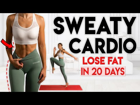 SWEATY CARDIO FAT LOSS in 20 Days (no jumping) | 10 min Home Workout
