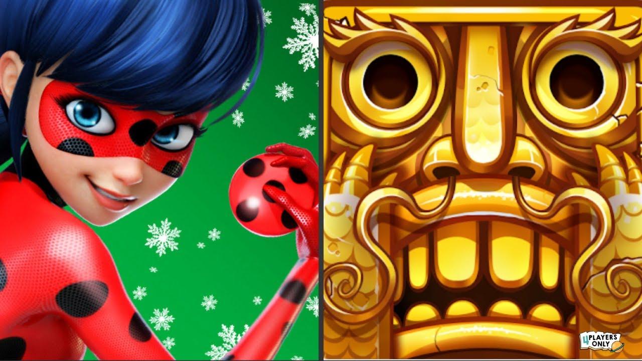Download Miraculous Ladybug & Cat Noir 🐞 VS Temple Run 2 🏮LOST JUNGLE - LANTERN FESTIVAL!