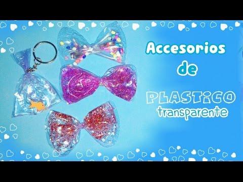 Crea accesorios divertidos con plástico trasparente