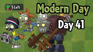 Plants vs Zombies 2 - Modern Day - Day 41: Don't Lose More Than 5 Plants