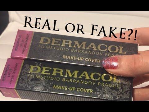 Real vs Fake Dermacol Makeup Cover