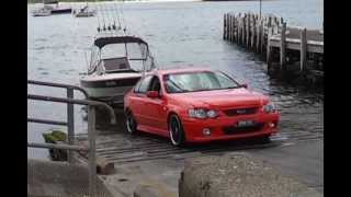 Ford Commodore Doing A Boat Launch