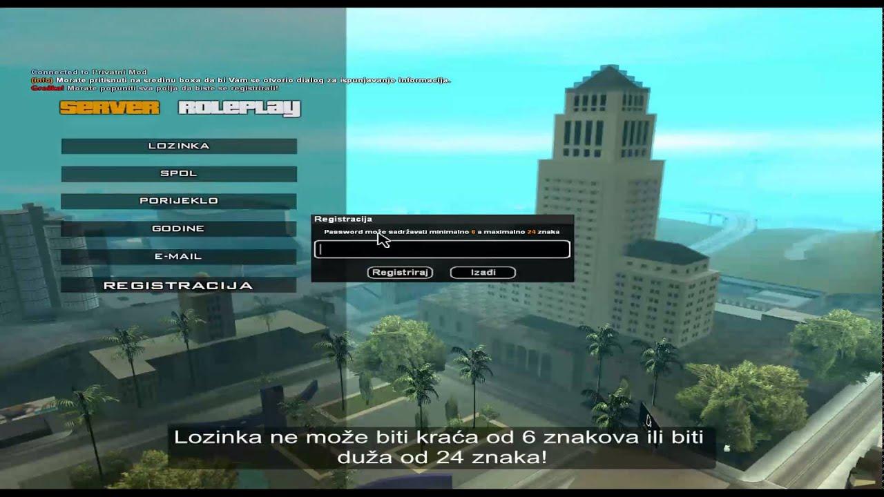 SAMP REGISTER AND LOGIN TEXTDRAW - YouTube