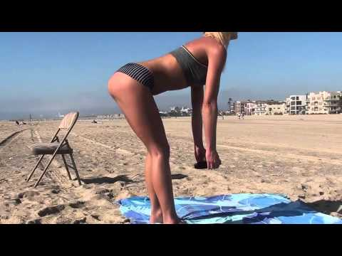 Hot Fitness Models!! Bikini Booty, Abs, Legs, Arms,  Beach Workout