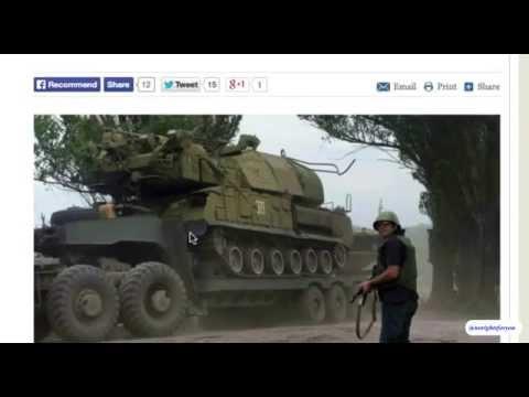 OBAMA BUSTED!!! Kiev army BUK systems. Slovyansk. July 5, 2014