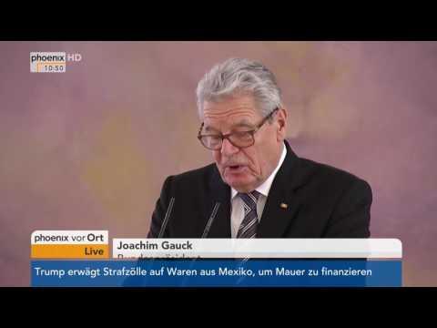 Schloss Bellevue: Amtswechsel im Außen- und Wirtschaftsmisterium am 27.01.2017