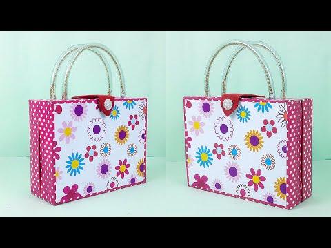 Why Not Make this Handbag using Waste Cardboard Boxes? Easy Cardboard Craft Idea