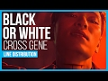 Cross Gene - Black or White Line Distribution (Color Coded)