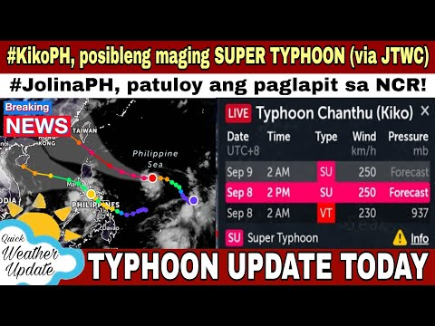 GMA NEWS: BAGYONG JOLINA AT BAGYONG KIKO UPDATE | WEATHER UPDATE TODAY | WEATHER FORECAST FOR TODAY