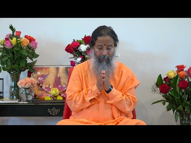 Darshan with Paramahamsa Prajnanananda at Temple of Compassion, Texas on October 2, 2021 Morning
