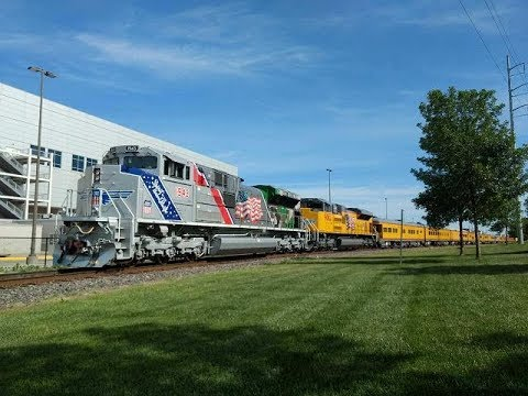 2018 Union Pacific Home Plate Special with UP1943 arriving In Omaha, NE