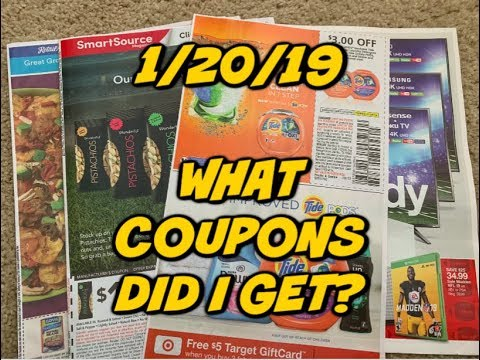 1/20/18 WHAT COUPONS DID I GET? | SAY WHAT....$3 TIDE 😱 Mp3