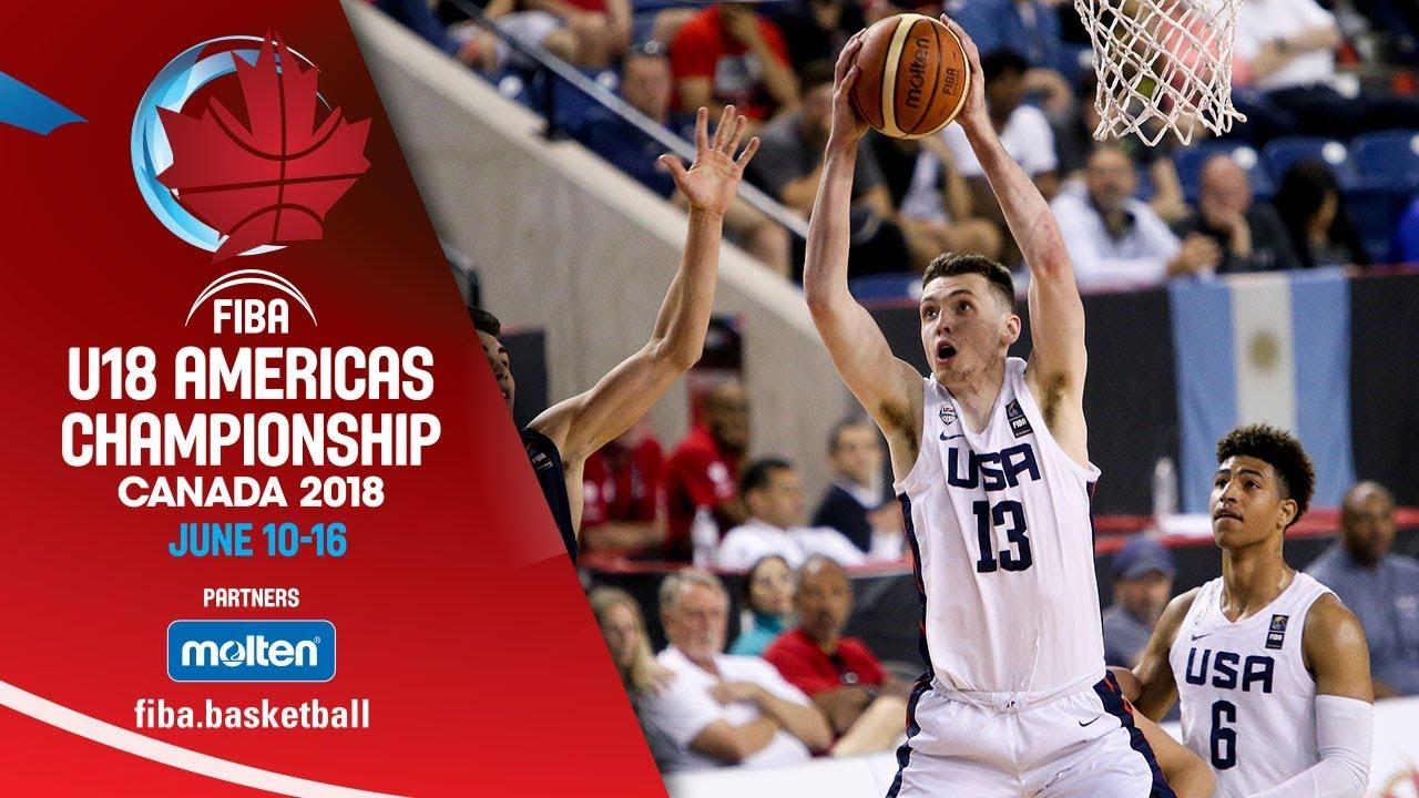 USA v Argentina - Semi-Finals - Re-Live (ENG) - FIBA U18 Americas  Championship 2018