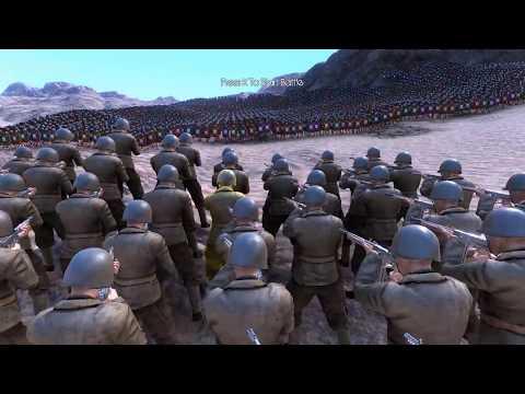 10 000 WW2 U S  SOLDIERS vs 50 000 ROMANS   Ultimate Epic Battle Simulator T&PShow !!!