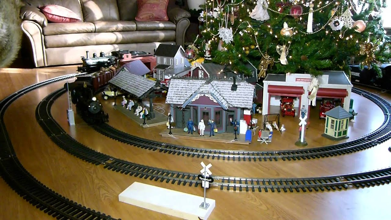 Trains Around Christmas Tree