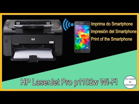 Como Instalar a Impressora HP Laserjet Pro p1102w WI-FI e Imprimir do Smartphone