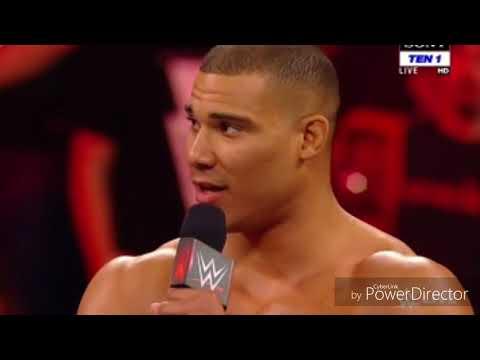 Raw 9th January 2018 Roman Reings confront Samoa Joe . The bullet club attack