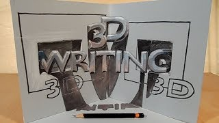 How to Draw 3D Writing Illusion - Trick Art on Paper - Vamos