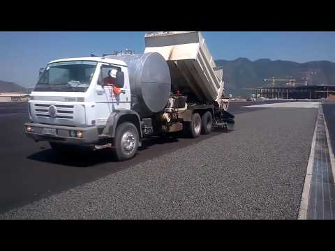 Modern Road Construction USA, Germany, Australia Prototype Wet Weather Road Asphalting Mega Machine