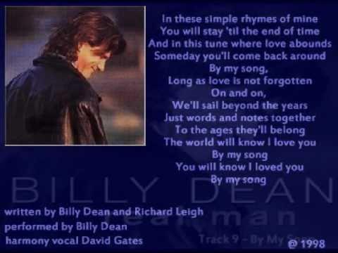 Billy Dean - By My Song ( + lyrics 1998)