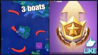 Search between 3 boats (Fortnite week 8 challenge)