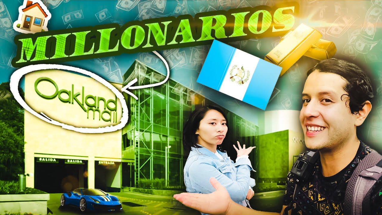 🤑Aquí viven los MILLONARIOS 💵de GUATEMALA 🇬🇹 - Zona 10, Oakland Mall, Ciudad Capital