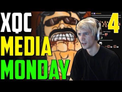 XQC MEDIA MONDAY #4 W/CHAT Ft. Moxy