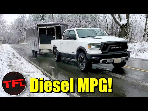 I Find A BIG Difference Between Towing & Empty MPG In The 2020 Ram Rebel EcoDiesel