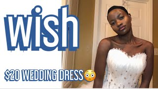 TRYING ON WEDDING DRESSES FROM WISH.COM $20! ||INSPIRED BY Safiya Nygaard