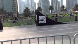 Moto X Freestyle in burj Khalifa park, Dubai