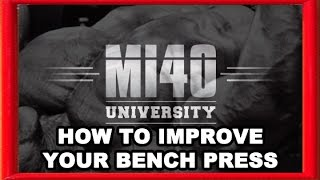 Bench Press, How to Improve Bench Pressing Strength Muscle Size MI40
