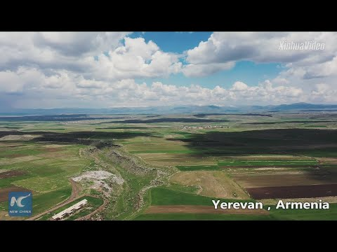 Spectacular Aerial View Of Under-construction North-South Highway In Armenia