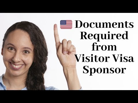 USA Visitors Visa Sponsor Documents