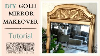 DIY Gold Mirror Makęover - How to Make a Cheap Mirror Look Expensive