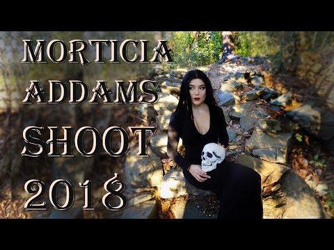 BTS Morticia Addams Cosplay Shoot