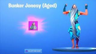 Novo! * FREE * OLD bunker Jonesy Skin..! (Com emotes VAZADOS) Battle Royale do Fortnite
