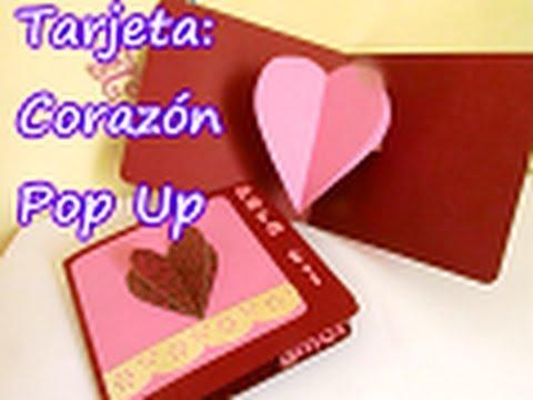 Tarjeta de Corazón Pop Up para SAN VALENTIN - YouTube
