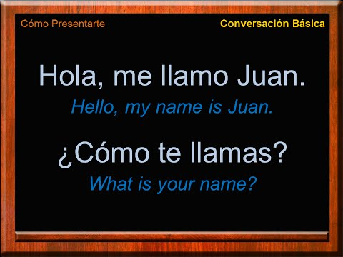Basic Conversation In Spanish | Introduce Yourself In Spanish | Conversación En Español | Frases